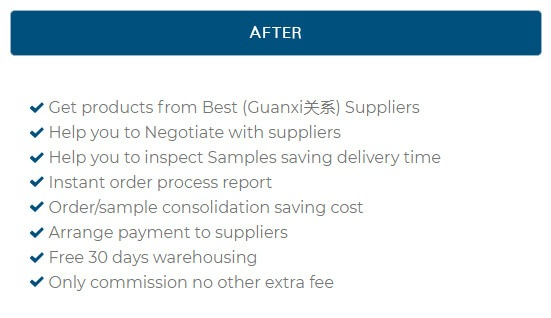 SOURCING AGENT CHINA